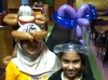 Customers with Butterfly Hat & Monkey Hat