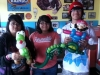 3 Customers with a Mario, Yoshi, and an Alligator