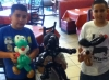 Customers with Yoshi, Venom and a Dog