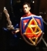 Staff posing with the Master Sword and Hyrulian Shield.
