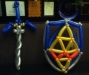 The Master Sword and Hyrulian Shield for the Legend of Zelda.