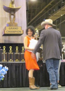 Anna Painting Rodeo Trophy